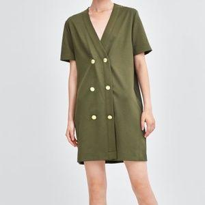 Zara Double Breasted Dress